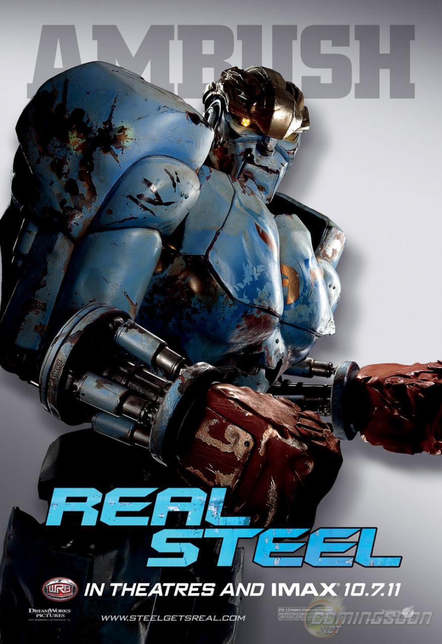"[MEDIA] - ""REAL STEEL"" ""REAL STEEL"" robots posters"